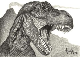 Cretaceous Tyrant - T. Rex by HOULY1970