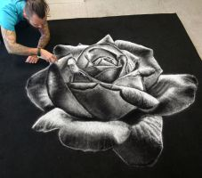 Rose made with Salt by AtomiccircuS