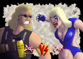 Dog The Bounty Hunter VS Lady Gaga by mrpaintyman