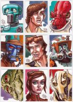 Star Wars Sketch Cards 2013 by Chad73