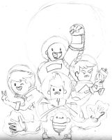 Bravest Warriors sketch by tigernose123