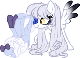 Mom and baby by fluttershysocks