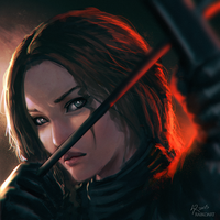 Katniss by raikoart