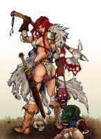Red Sonja - colors by gabcontreras