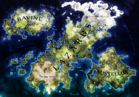 Geographic Map of Omnia by EjLowell