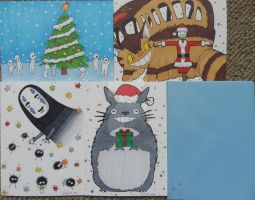 Studio Ghibli Christmas cards set by LadyNin-Chan
