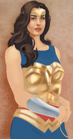 megan gale as wonder woman by hugeackman