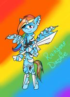 Skeleton Warrior Rainbone Dash by voidless-rogue