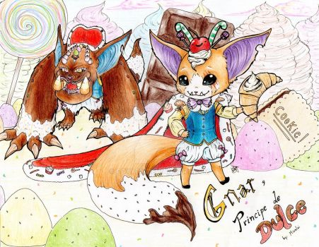Gnar! The King of Candies! by FoxyDK