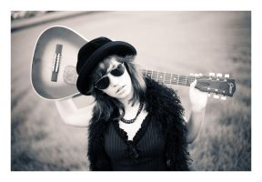 Girl with a black guitar 02 by Ciril