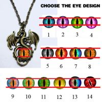 Custom Glass Dragon Eye Pendants by Create-A-Pendant