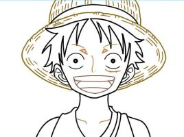 How to draw Monkey D. Luffy of One Peice Part 2 by SketchHeroes