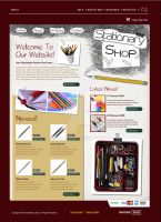 Stationary Store Website by kn33cow