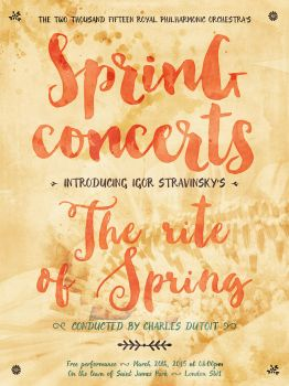 Create a Bright and Cheery Spring Concert Poster by simonh4