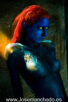 Body paint mystique x-men 3 by josemanchado