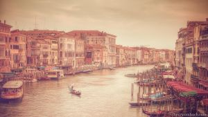 venice sunset by Henry-von-Huch
