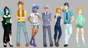 My Little Humans lineup 4 by Emberfan11