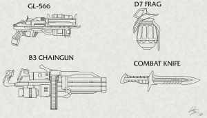 Weapon concepts by EastCoastCanuck