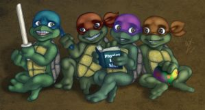 Toddler Mutant Ninja Turtles by Violette-Aner