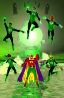 Green Lantern Corps by jaypiscopo