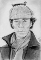 Benedict Cumberbatch as Sherlock Holmes by julesrizz