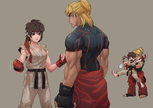 Ryu gender bender by cirenk