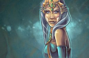 Ahsoka Tano Portrait in Princess outfit by Aliens-of-Star-Wars
