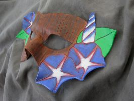 Morning Glory Leather Mask by MummersCat