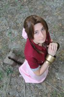 Aerith - Talking to the Earth.. by AerithStrife90