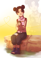Tenten just chillaxin by BayneezOne