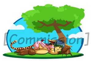 A Nap Under a Tree by TamarinFrog