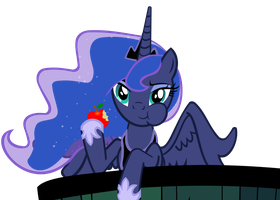 Luna eating an apple by Brunursus