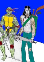 Casey Jones and Raphael by theaven