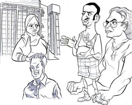 Mall Sketches of Arab Tourists by kazzer-doom