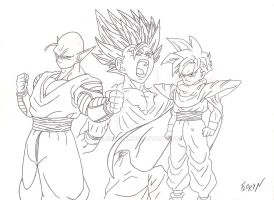 Gohan and Piccolo by Florin14k