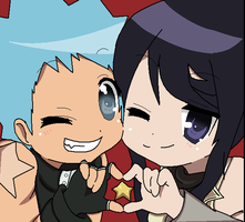 Black Star and Tsubaki-chan by jinxster4life