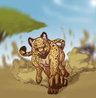 Running Cheetah by IzaPug