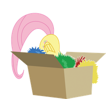 fluttershy in box by robojot