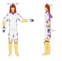 Gijinka Gomamon costume design by BladeTiger