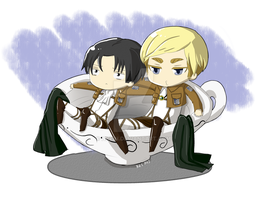 Gift: SnK Erwin and Levi by nkein