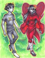 Sollux and Aradia by naydeity