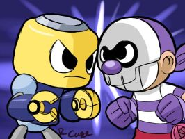 Servbot VS Goon doodle by rongs1234