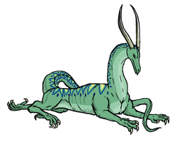 Lounging Dragon by qwerty1198
