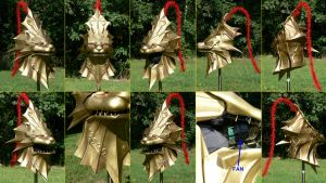 Dragon Slayer Ornstein Helm views by Cosarmor
