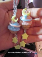 Magic Moon Sundae Necklaces by xXMCRxfanXGIRLXx
