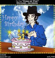Happy Birthday Michael Jackson by wolfjedisamuel