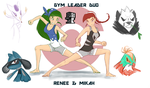 Fighting Type Gym Leader Duo by LADartist