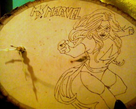 Miss Marvel Clock by LilPKCreations