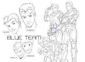 Red vs Blue - Blue Team by Phill-Art