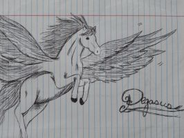 Sketches in Pen-Pegasus by Pirates-Pencil